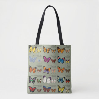 30 Butterfly Species from Around the World Tote Bag