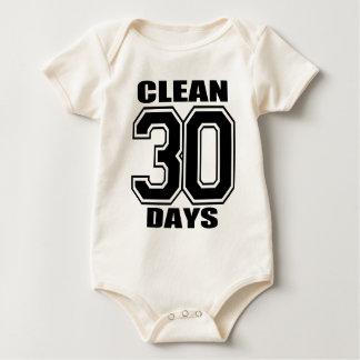 30 days  clean black baby baby bodysuit