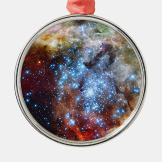 30 Doradus Nebula Star Clusters Silver-Colored Round Decoration
