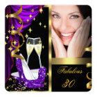 30 Fabulous & Fantastic Purple Champagne Party 4 Card