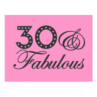 30 & Fabulous Gift Postcard