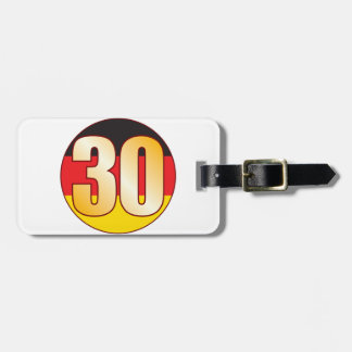 30 GERMANY Gold Luggage Tag
