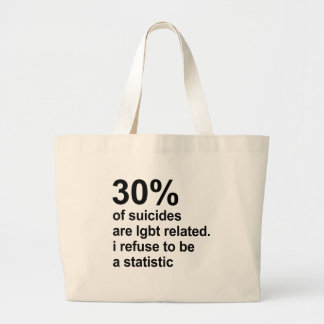 30% of suicides are lgbt related large tote bag