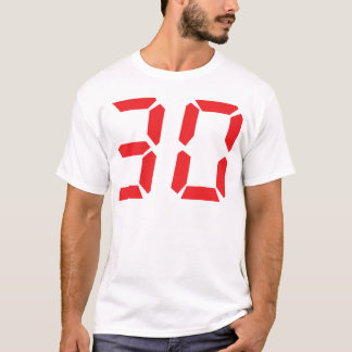 30 thirty red alarm clock digital number T-Shirt