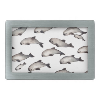 30 vaquita porpoise dolphin rectangular belt buckle
