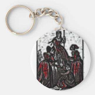 30 - Widow Queen Basic Round Button Key Ring