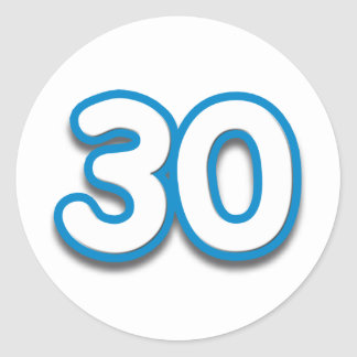 30 Year Birthday or Anniversary - Add Text Classic Round Sticker