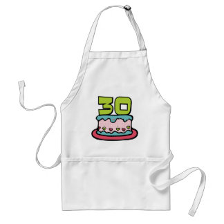 30 Year Old Birthday Cake Aprons
