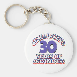 30 year old birthday designs and gifts key ring
