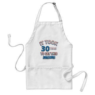 30 year old birthday designs apron