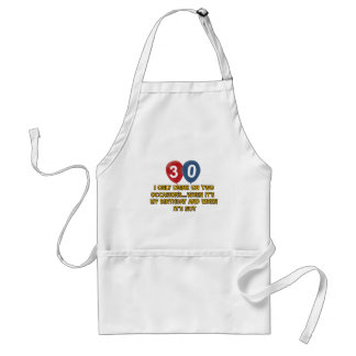 30 year old birthday designs aprons
