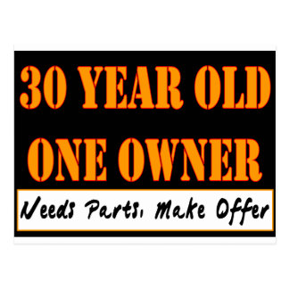 30 Year Old, One Owner - Needs Parts, Make Offer Postcard