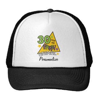 30 year old Party Animal | 30th Birthday DIY Name Cap