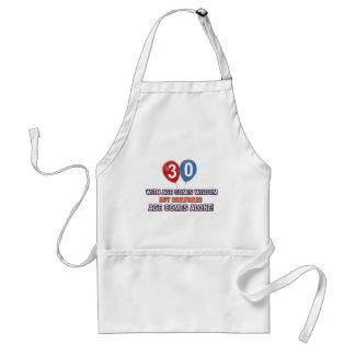 30 year old wisdom birthday designs aprons