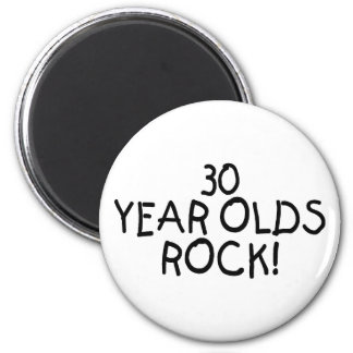 30 Year Olds Rock 6 Cm Round Magnet