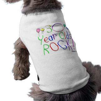 30 Year Olds Rock Doggie Shirt