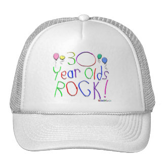 30 Year Olds Rock ! Hats