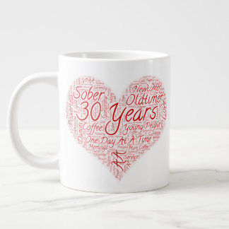 30 Years By the Grace of God Large Coffee Mug