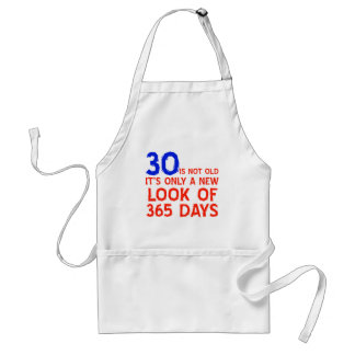 30 years Old birthday designs Standard Apron