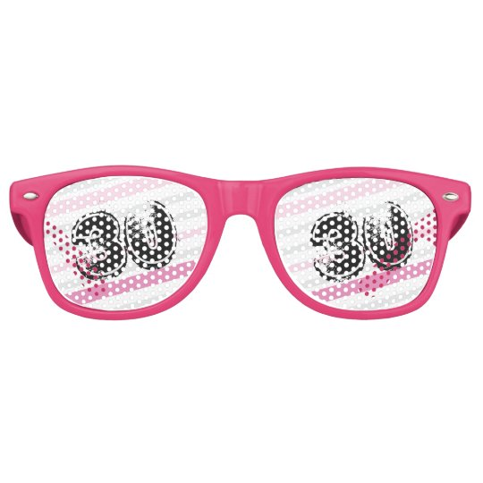 30 yr Bday Pink - 30th Birthday Retro