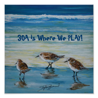 """""""30A is Where We Play"""" Poster"""