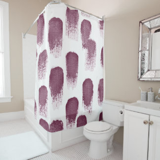 30s Watercolor Print Shower Curtain