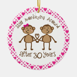30th Anniversary Gift Ornament