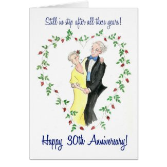 30th Anniversary Greeting Card