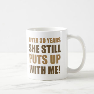 30th Anniversary Humor For Men Coffee Mugs