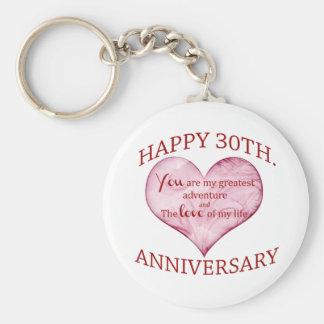 30th. Anniversary Key Ring