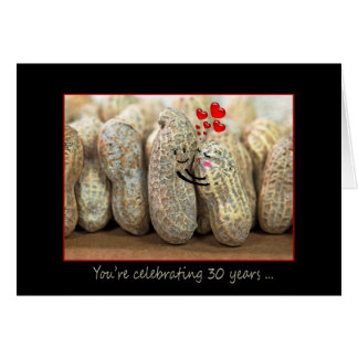 30th Anniversary Nuts Greeting Card
