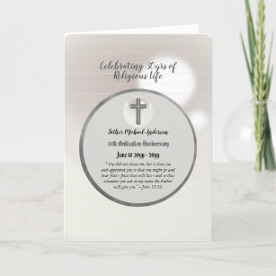 Jubilee priest ordination anniversary cards zazzle 30th anniversary ordination priest any clergy card m4hsunfo