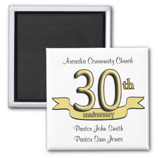 30th Anniversary Party Favors Square Magnet