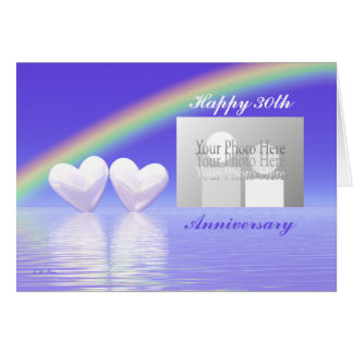 30th Anniversary Pearl Hearts (for photo) Greeting Card