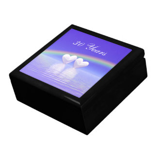 30th Anniversary Pearl Hearts Large Square Gift Box