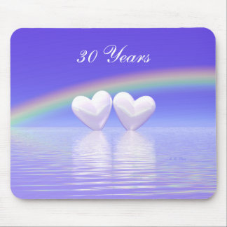 30th Anniversary Pearl Hearts Mouse Mat