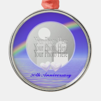 30th Anniversary Pearl Hearts (photo frame) Christmas Ornament