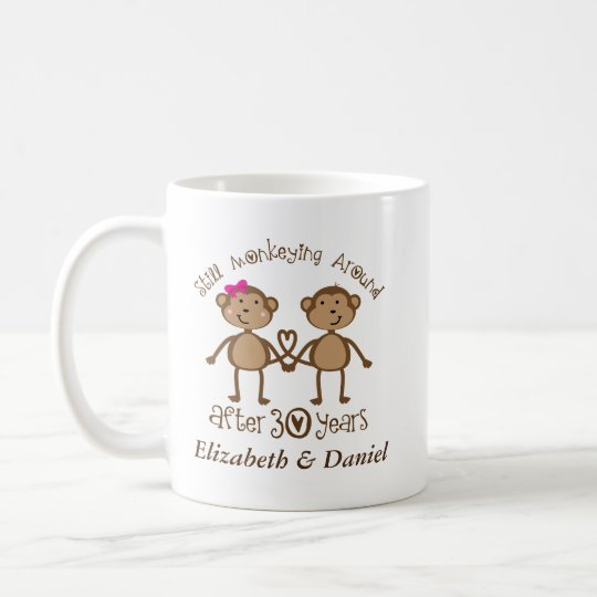 30th Anniversary Personalised His and Hers Mugs