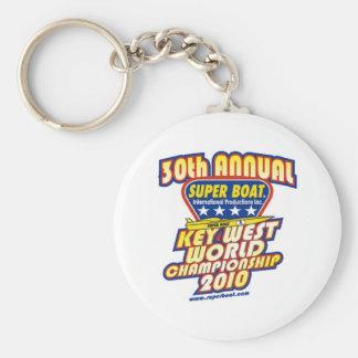 30th Annual Key West World Championship Basic Round Button Key Ring