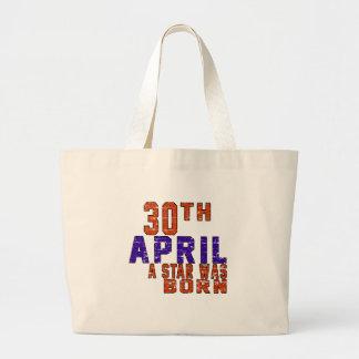 30th April a star was born Jumbo Tote Bag