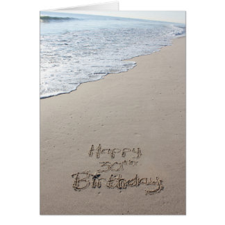 30th Beach Birthday Card
