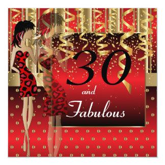 30th Birthday Bash Party   Template  DIY 13 Cm X 13 Cm Square Invitation Card