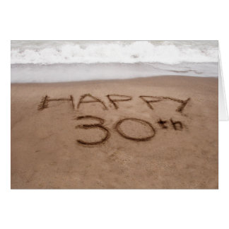 30th Birthday Beach Greeting Cards