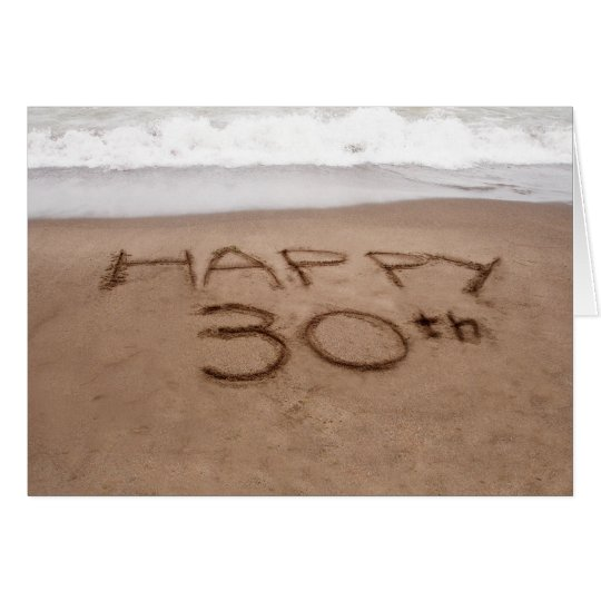 30th Birthday Beach Card