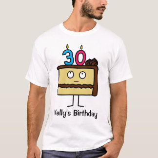 30th Birthday Cake with Candles T-Shirt