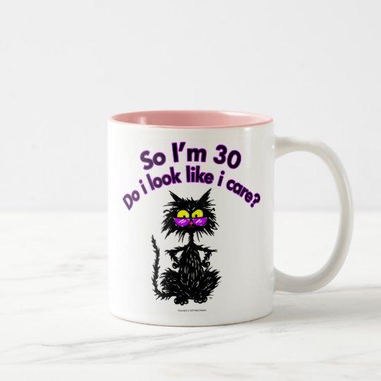 30th Birthday Cat Gifts Two-Tone Coffee Mug