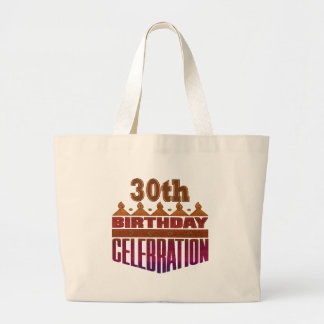 30th Birthday Celebration Gifts Jumbo Tote Bag