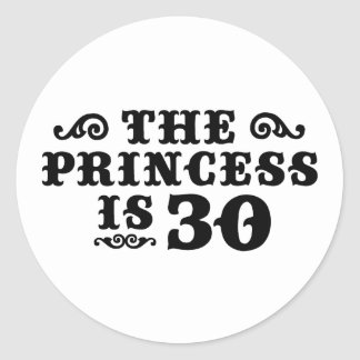 30th Birthday Classic Round Sticker