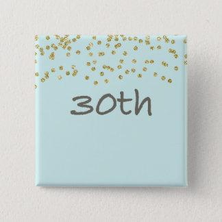 30th Birthday Confetti 15 Cm Square Badge