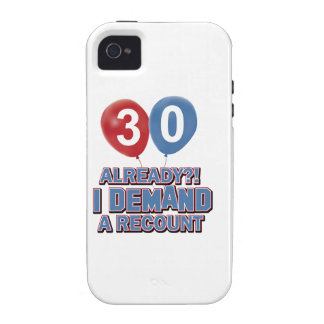 30th birthday designs iPhone 4 case